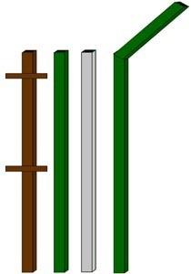 изготовление металлические столбы в Мысках